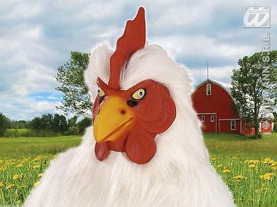Rubber Chicken Mask Farm Animal Cockerel Chicken Run Fancy - Rubber Chicken Mask