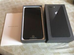 LIKE NEW IN BOX+256GB iPhone 8 PLUS BLACK With ACCESSORIES+10