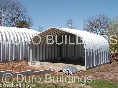 DuroSPAN Steel 20x30x16 Metal Prefab Open Ends Building Shed