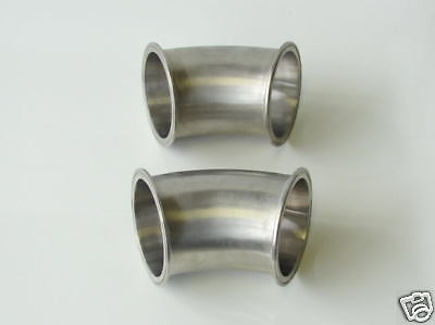 4 Tri-clamp Fittings Sanitary 316 Stainless Steel 45 Bends -set Of Two-used