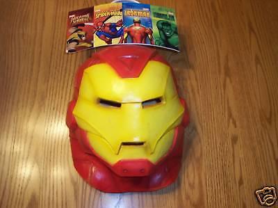 Iron Man Erwachsene Vinyl Vollmaske Marvel Nwt