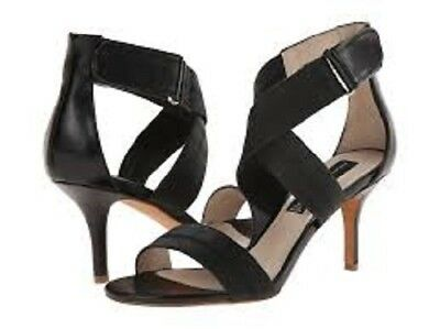 Steven Leather Strappy Sandals (NIB Steven by Steve Madden black leather Vaale strappy heels dress sandals)