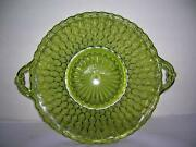 Vintage Green Glass Dish