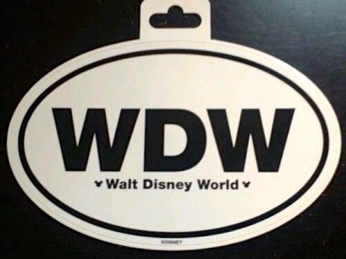 WDW Walt Disney World Logo Auto Cling / Sticker / Decal New