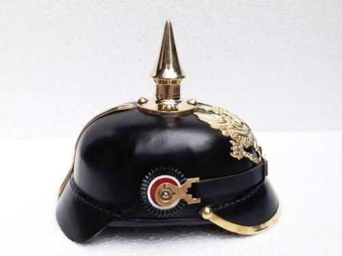 Imperial German Prussian Leather Pickelhaube Spike German helmet Vinatge Gift