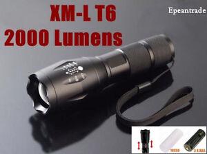 grade tactical flashlight led 2000 lumens waterproof torch light l ebay