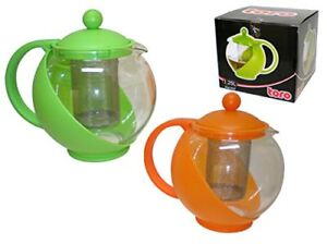 Gently used plastic tea pot with infuser