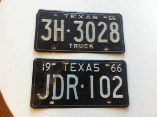 Vintage Texas License Plate 111