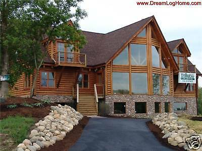 LOG CABIN HOME PACKAGE/ LOG  KIT FOR 3400 sf HOME