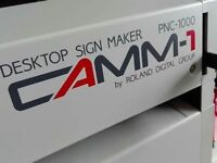 roland camm 1 pnc 1000 vinyl cutter, laptop and software