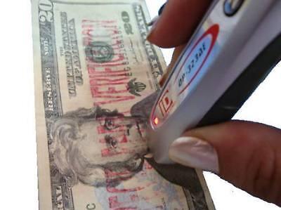 2pc Portable Detector Uv Mg Counterfeit Fake Dollar Euro Bank Bill Note Money
