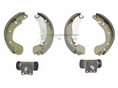 FIAT CINQUECENTO SEICENTO ALL MODELS REAR BRAKE SHOES SET  2 WHEEL CYLINDERS
