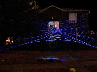 50' MEGA GlowWeb Rope Spider Web Halloween House Giant Yard Prop Decoration - Halloween Mega Spider Web