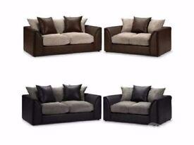 """""Supreme Quality; Comfy And Stylish"""" New Byron 3 And 2 sofa or corner sofa in jumbo cord fabric"