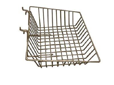 New Case Of 6 Slatwall Or Grid Basket 15x12x5 Chrome
