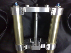 Yamaha Vmax Billet Fork Yokes for USD forks- R1/GSXR etc Triple Trees