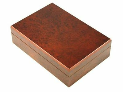 Burl Wood Finish Spanish Cedar Stash Box - Lid with Magnet