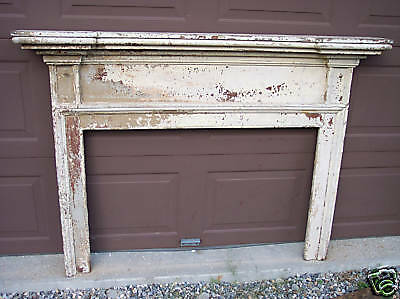 Antique, Early Pine Fireplace Mantel