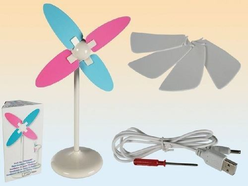 DESK FAN WINDMILL WITH USB PLUG DRIVE