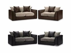 *SPECIAL OFFER* New Byron Left / Right Hand Corner Sofa In Brown Colour, New Fabric Corner Sofa