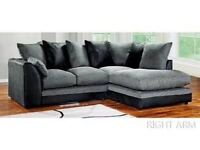 -FASTEST DELIVERY-! NEW BYRON JUMBO CORD CORNER OR 3 AND 2 SEATER SOFA SET IN GREY BLACK BROWN BEIGE