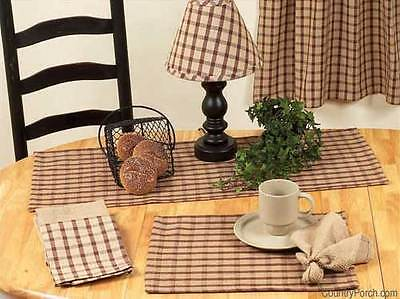 """WINDOWPANE CHECK COCOA BROWN/NUTMEG 14"""" X 36"""" TABLE RUNNER ONLY BY RAGHU"""