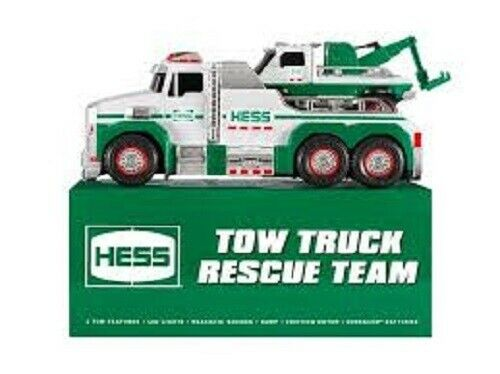 HESS* 2019* TOW* TRUCK* RESCUE* TEAM* TRUCK* UNOPENED* WITH* ALL* BATTERIES*