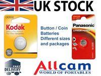 Bottone / Moneta Batterie Da Kodak E Panasonic, Diverso Modelli, Nuovo Sigillato - kodak - ebay.it
