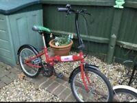 Folding Bike (Fully Working) Red