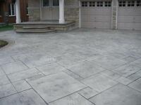 Concrete, and stone walkways, patios and driveways.