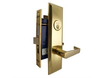 MARKS 116A ENTRANCE METRO APARTMENT MORTISE LOCKSET W/ LEVER HANDLE ()
