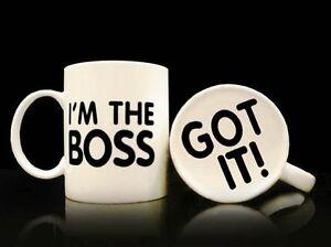 I'm The Boss Got It! Printed Design Novelty Manager Mug Coffee Tea Gift Present
