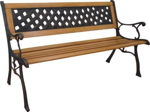 Wrought iron garden bench ebay Wrought iron outdoor bench