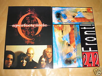 2 X MUSIC POSTCARDS - PERFECT CIRCLE & FRONT 242