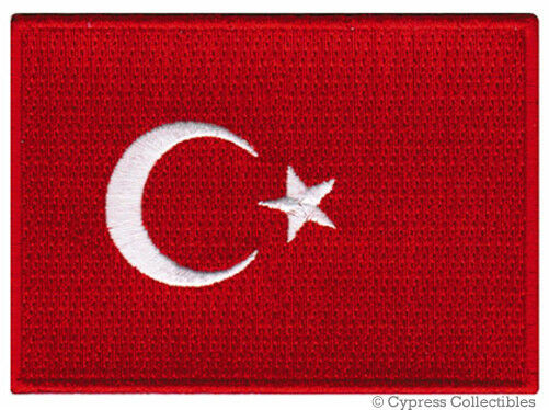 TURKEY FLAG embroidered iron-on PATCH TURKISH EMBLEM Türkiye Cumhuriyeti NEW