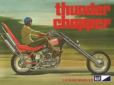 MPC Thunder Chopper Custom Motorcycle 1/8 model kit new 835