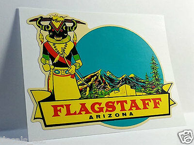 FLAGSTAFF ARIZONA Vintage Style Travel Decal, Vinyl Sticker, Luggage Label
