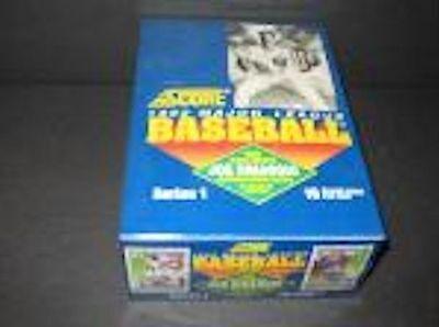 1992 Score Baseball Card Wax Pack Box Series 1