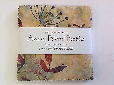 "MODA SWEET BLEND BATIKS - LAUNDRY BASKET QUILTS - 5"" x 5"""