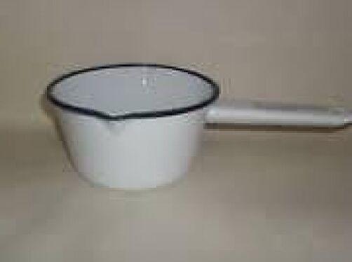 309862 Falcon Enamel 14cm Milk Pan WHITE