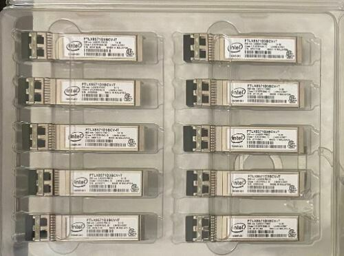 Genuine Intel E10GSFPSR FTLX8571D3BCV-IT 10G/1G E65689-001 0Y3KJN for X710 X520