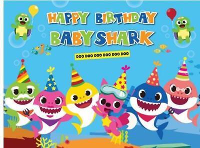 7X5FT Under Sea  Baby Shark  Baby Shower Newborn backdrop birthday - Baby Shower Background