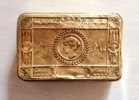 Antique WW1 1914 brass box