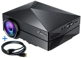 """ELEPHAS Full Color 130"""" Portable LED Pico Projector for Home Theater Video Games TV Movie GM 60"""