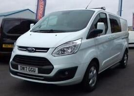 2017 Ford Transit Custom 2.0 TDCi 130ps Low Roof D/Cab Limited Van Diesel