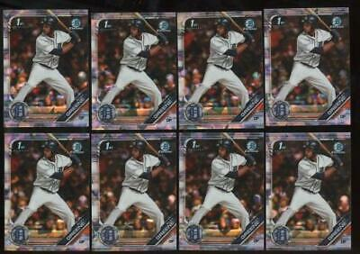2019 Bowman Chrome Sapphire Riley Greene RC Rookie Lot of 8