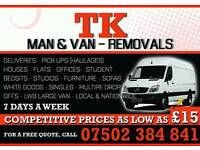 Call Now 07502384841 Man & Van removal service Cheap and Reliable