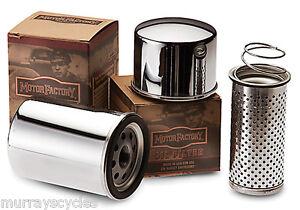 Motor-Factory-Chrome-Oil-Filter-for-Harley-V-Rod-Models-63793-01