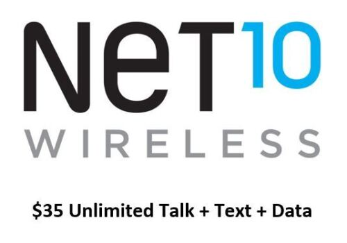 Net10 $35 Month - Airtime Refill Plan W/ Unlimited Talk/Text/Data - Fast Refill