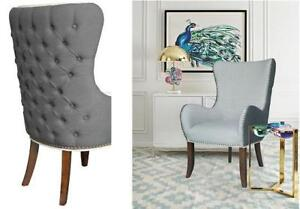 *new* Elmer Fabric Tufted Accent Chair - Grey